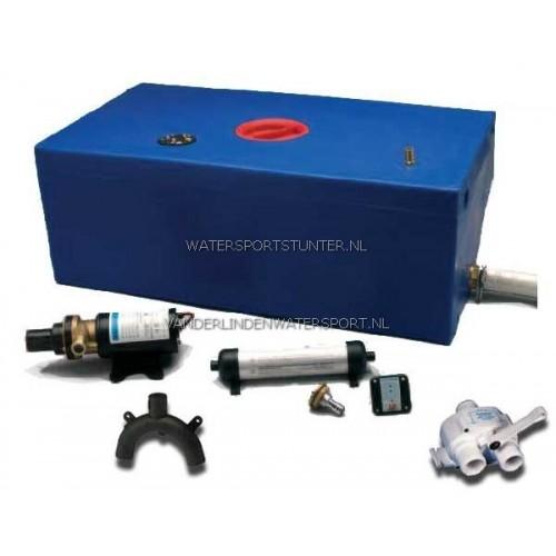 Vuilwatertank Set 12V Recht 112 Liter