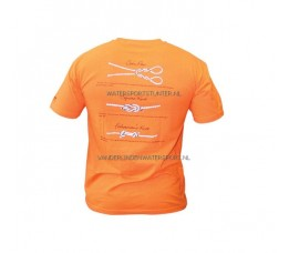 T-Shirt Knopen Oranje M