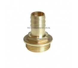 Slangpilaar Messing Buitendraad 1-1/4 x 38 mm