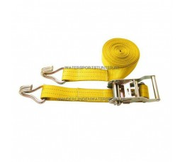 Spanband Met Ratel + Haken Geel 6 Meter