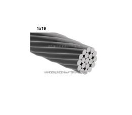 Staaldraad RVS 1x19 - 5 mm