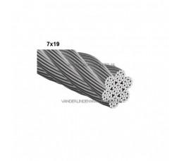 Staaldraad RVS 7x19 - 3 mm