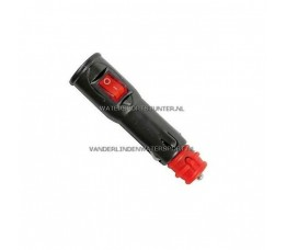 Aanstekerplug 12-20 mm + Aan/Uit Schakelaar