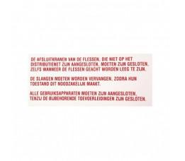 Sticker Instructie Vloeibaargas 20 x 10 cm