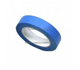 Afplaktape UV Blauw 25 mm