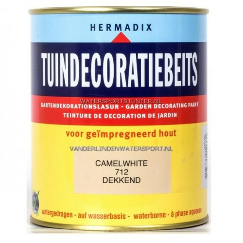 Hermadix Tuindecoratiebeits 712 Camel White Dekkend 750 ml