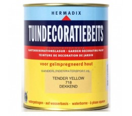 Hermadix Tuindecoratiebeits 718 Tender Yellow Dekkend 750 ml