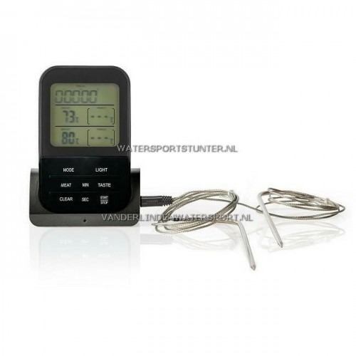 Vleesthermometer Draadloos Digitaal Display 0-250 Graden
