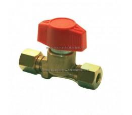 Verdeelkraan Gas 1-Voudig 8 mm