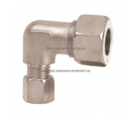 Koppeling Haaks Verloop 8 x 6 mm Gas Staal