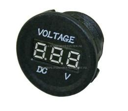 PL Voltmeter Digitaal Inbouw 10 / 30 Volt