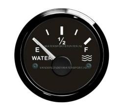 Watermeter 12 / 24 Volt Zwart